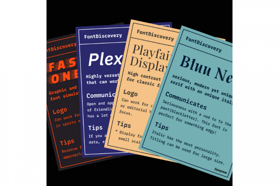 Collage of FontDiscovery newsletters
